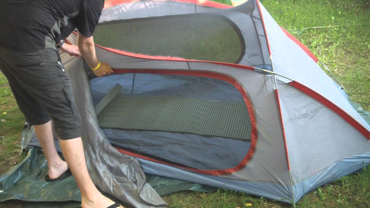 Texsport Osprey 3 person 3 season tent review & Texsport Osprey 3 person 3 season tent review - YouTube