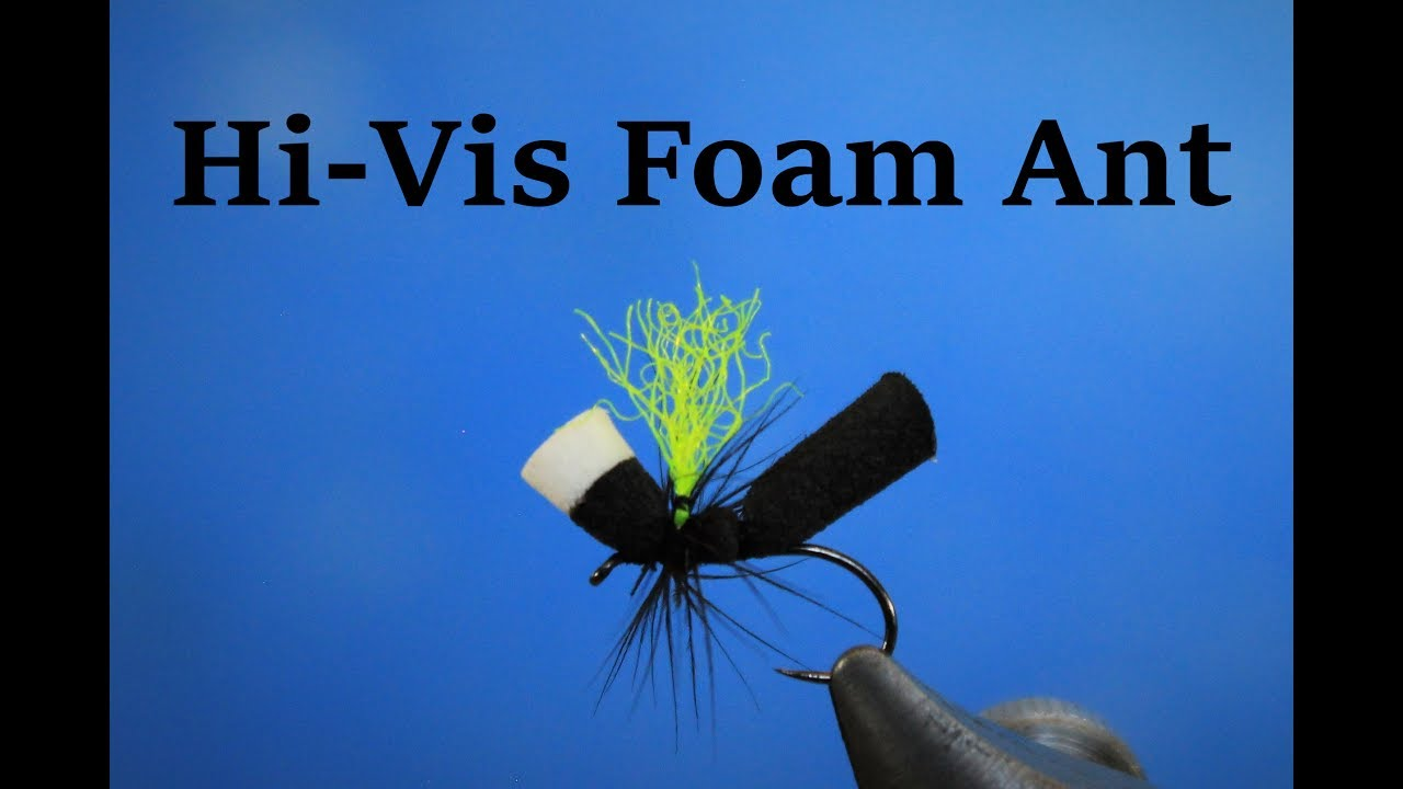 fly tying Foam Body Hi-Viz ANT bodies par raineys