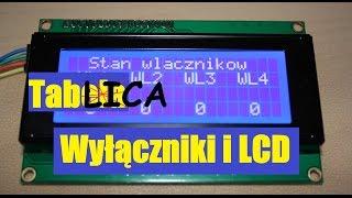 64. Jak wyświetlić stan pinów/włączników na LCD?