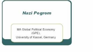Neo-Nazi Pogrom, MA Global Political Economy (GPE), University of Kassel