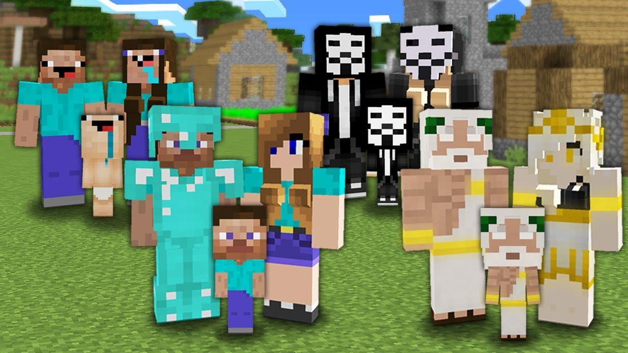 МАЙНКРАФТ СЕМЬЯ: НУБ ПРОТИВ ПРО ПРОТИВ ЧИТЕР ПРОТИВ БОГ БАТЛ 100% Троллинг Ловушка Minecraft