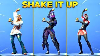*NEW* SHAKE IT UP EMOTE on All New Fortnite Skins! (New Fortnite Item Shop)