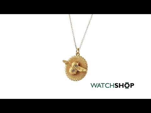 Olivia Burton Jewellery Ladies' Gold Plated Animal Motif Moulded Bee Coin Necklace (OBJ16AMN08)
