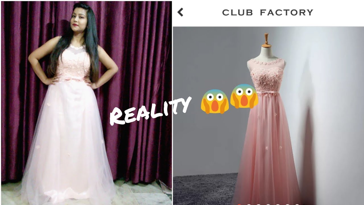 Club factory party gown Review 😍😱 with discount code 3629816 ...