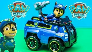 PAW PATROL Nickelodeon Paw Patrol Chase Spy Vehicle Toys Video Unboxing