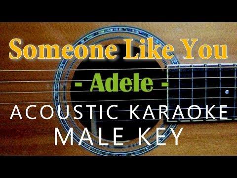 Someone Like You - Adele [Acoustic Karaoke | Male Key]