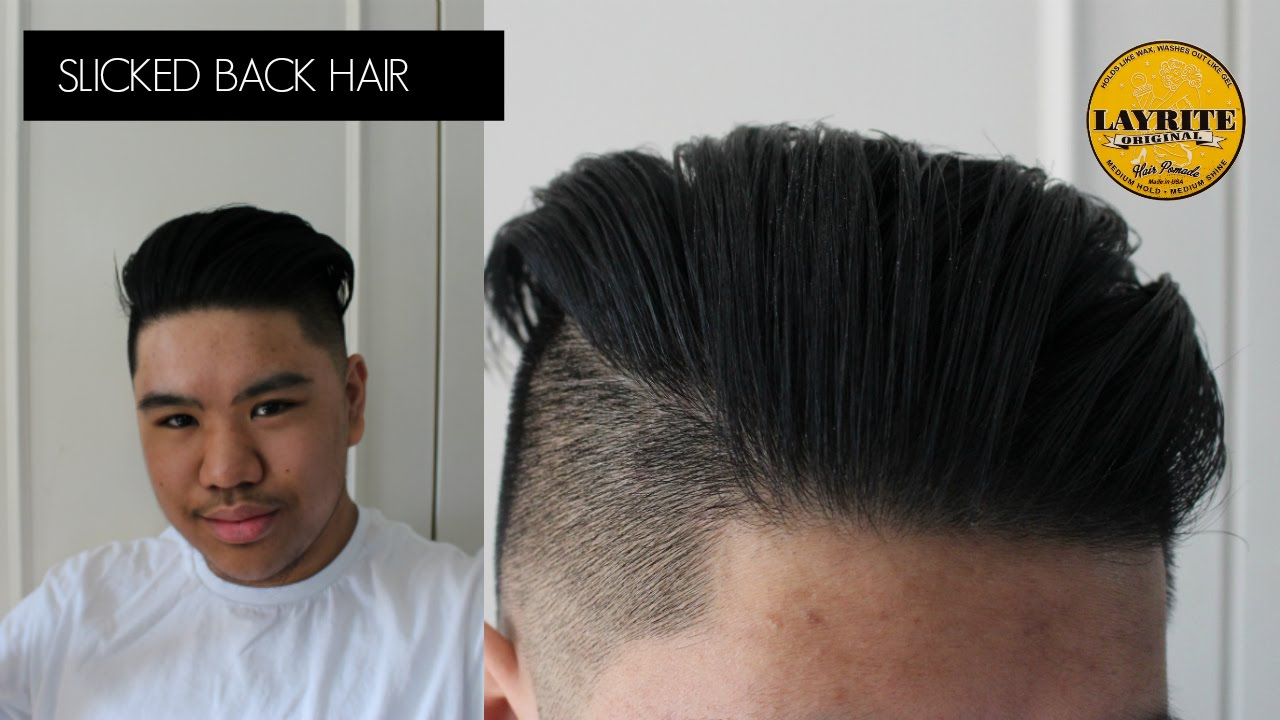 HOW TO GET SLICKED BACK HAIR FOR MEN| MENS HAIR| LAYRITE| BRANCH1302    YouTube