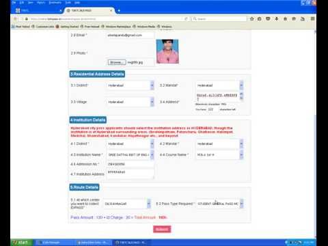 how to apply ts online bus pass...
