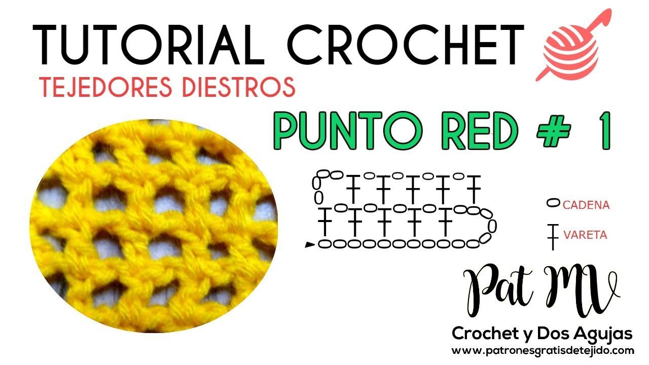 Punto Red # 1 a Crochet Paso a Paso / Tutorial para diestros - YouTube