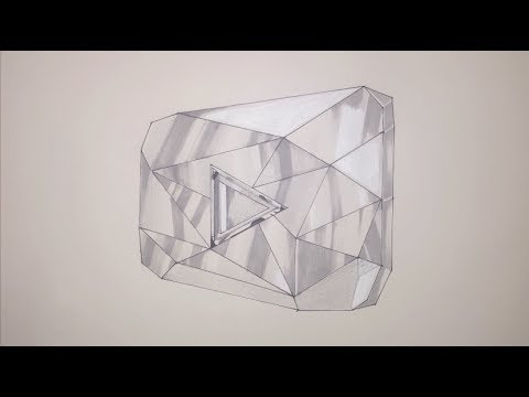 Line Drawing Diamond : How to draw the youtube diamond play button step by 10 000