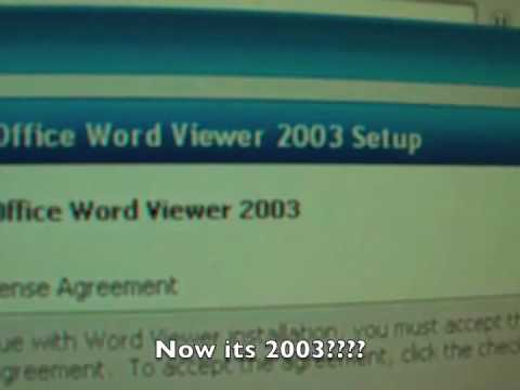 Microsoft Word 2007 Viewer comes up as 2003????