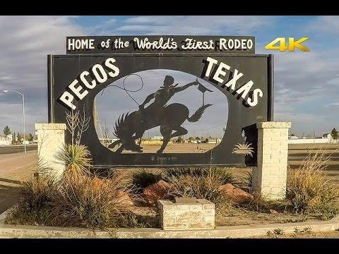 Pecos Texas Road Tour West Texas 80 MPH! 4k