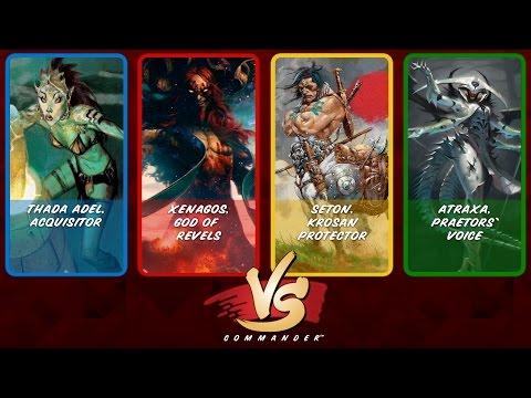Commander VS S6E7: Thada Adel vs Xenagos vs Seton vs Atraxa [MTG]