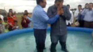 My Brother Jr. getting baptized in the name of JESUS! =)