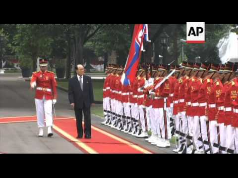 Head of North Korean parliament meets Indonesian president