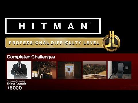 HITMAN Professional Mode Challenges - Bangkok - Sniper Assassin, Smooth Operator + 3 More