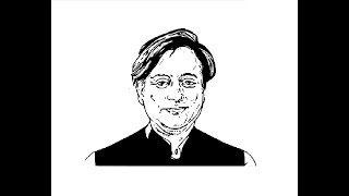 How to Draw Shashi Tharoor face pencil drawing step by step