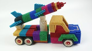 How to make a Truck with magnetic balls - DIY Missile Launch Truck - Satisfaction Magnetic