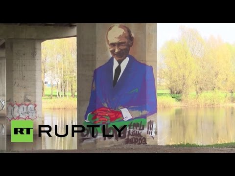 Estonia: Putin Graffiti Appears Under 'Friendship Bridge' For Annual Street Art Festival