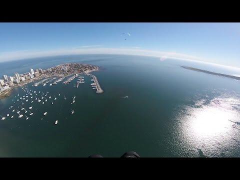 Paramotor flight over Punta del Este Uruguay