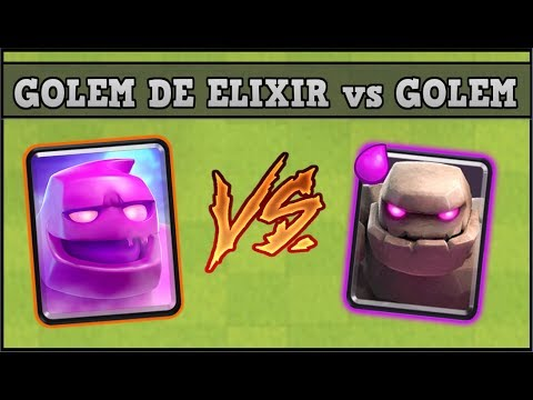 GOLEM DE ELIXIR Vs GOLEM | CLASH ROYALE |  1vs 1 Nueva Carta Retos
