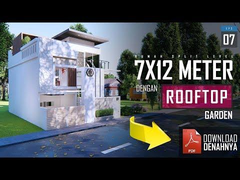 rumah-7x12-split-level-dengan-rooftop-garden