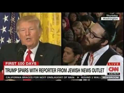 The Jewish reporter who was silenced during the Press Conference finishes his question on CNN