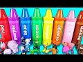 🎨 Rainbow Sorting Crayons with Toy Surprises. Best Video for Learning Colors, Numbers, & ABCs