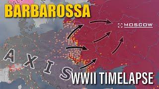 Operation Barbarossa - Eastern Front Hoi4 Timelapse