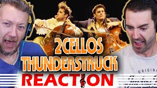 ''First Time Hearing''  2CELLOS Reaction  Thunderstruck