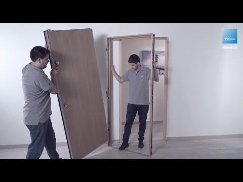 Instalaci n de puerta acorazada premium tesa assa abloy for Como se hace una puerta de tambor