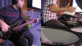 Live Bass & Drum Covers: I Could Sing of Your Love - Only A God Like You   Nothing Ever
