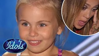 CUTEST KID SINGS FROZEN Let It Go On American Idol Proving TOO MUCH for Jennifer Lopez