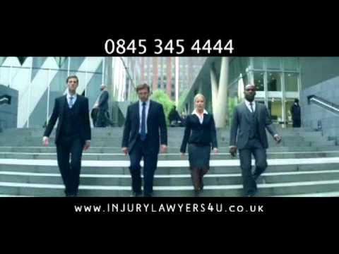 Injury Lawyers 4U advert  Woman Lawyer Falls Over