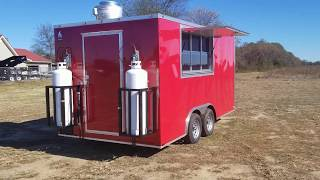 turn key concession by best trailers 8 x 16 vending trailer w equipment and sinks propane