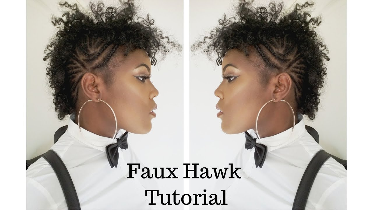 Faux Hawk Tutorial - Black Hair Information
