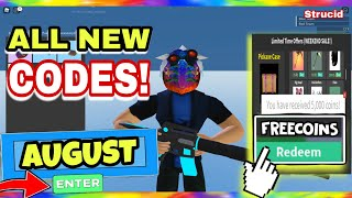*AUGUST* ALL WORKING CODES in STRUCID 2020 - Free Coins [ROBLOX]