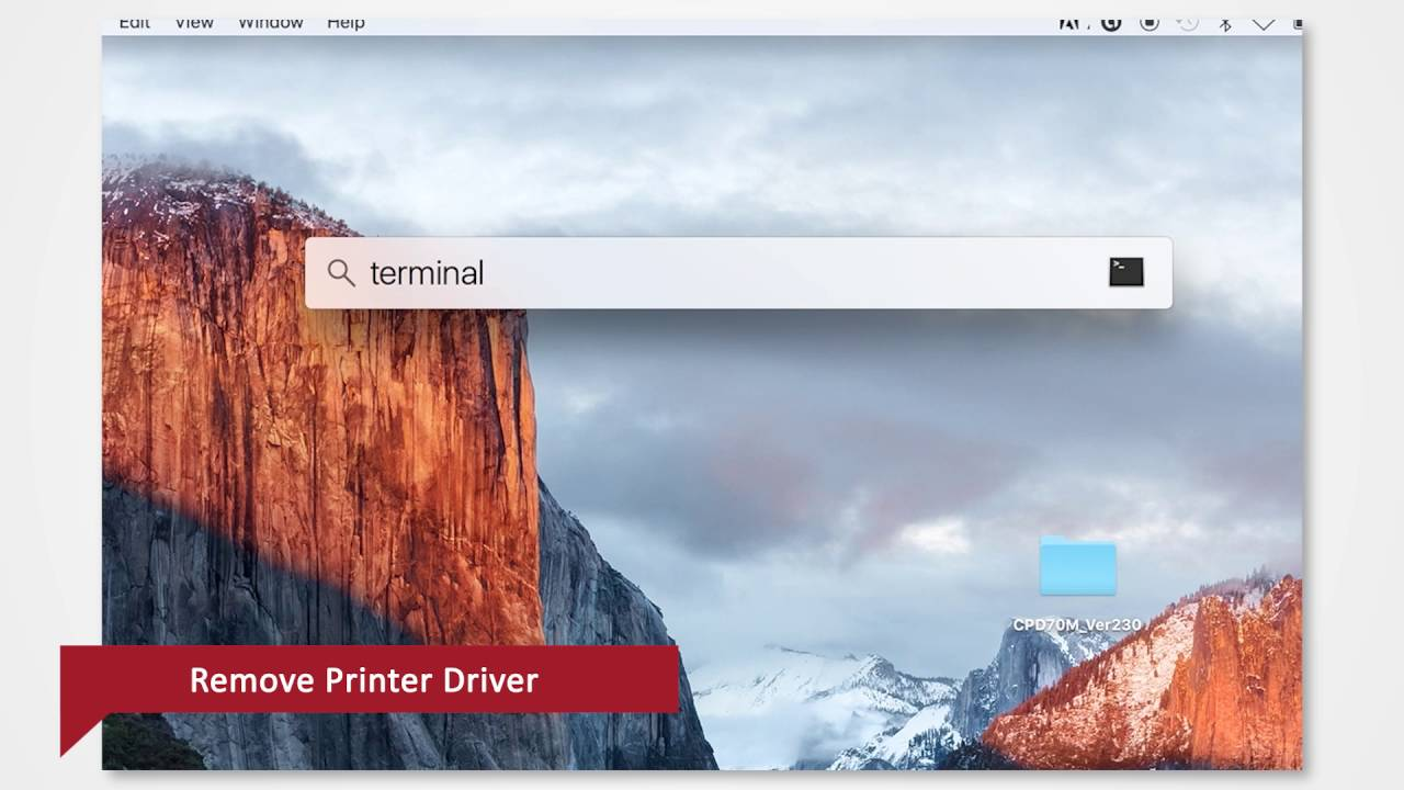 removing print drivers from mac