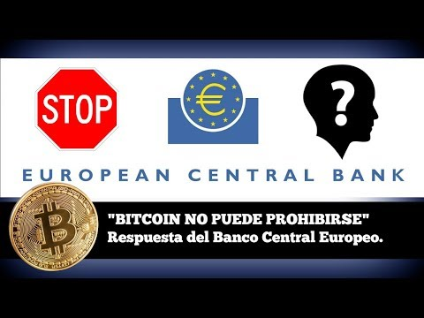 """BITCOIN NO PODRÁ PROHIBIRSE""  PRESIDENTE BANCA EUROPEA. SEPT 2017."