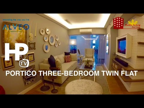 Portico Urban Courtyard Living Three Bedroom Twin Flat Unit Tour by HourPhilippines.com