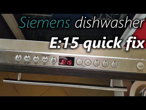 Download How to fix E15 in Siemens dishwasher (workaround fix)