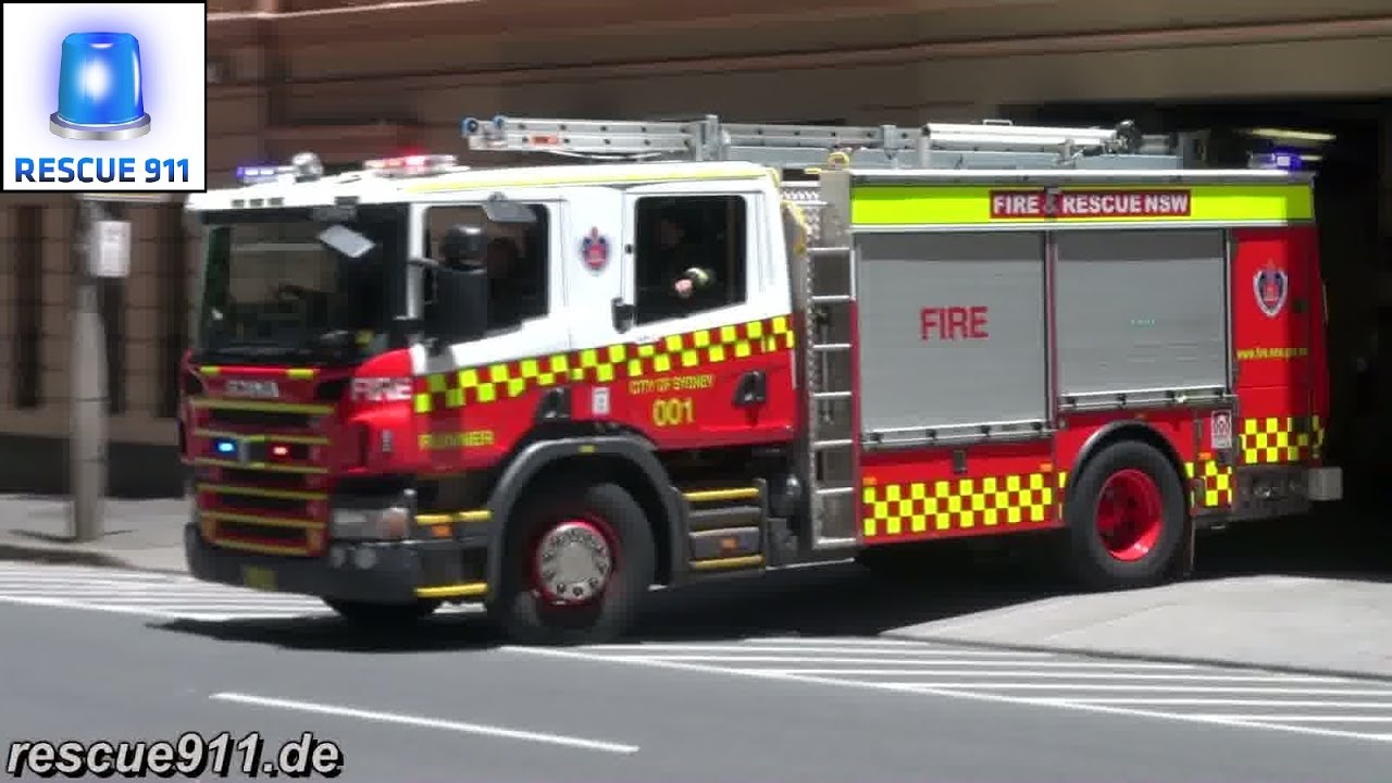 Pump Runner 001 City Of Sydney Fire Rescue Nsw Youtube