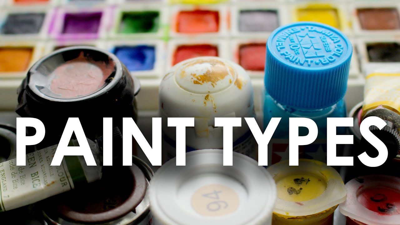 Paint Types for Painting Scale Models - YouTube