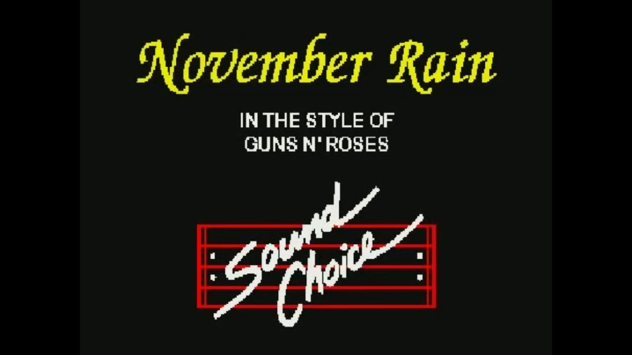 november rain guns n roses karaoke youtube