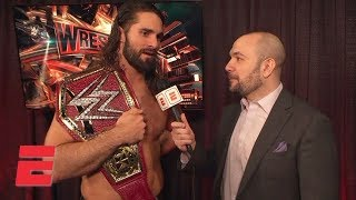 Seth Rollins wants 'to headline Wrestlemania next year' after beating Brock Lesnar | WWE Interview