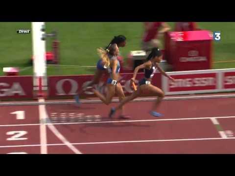 Final du relais 4x400m féminin français champion d'Europe!
