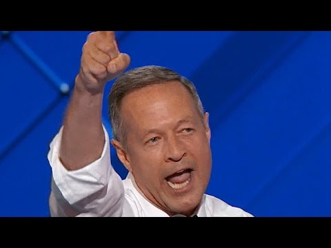 Fmr. MD Gov. Martin O'Malley addresses DNC