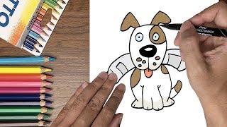 Dạy bé tập vẽ chó con