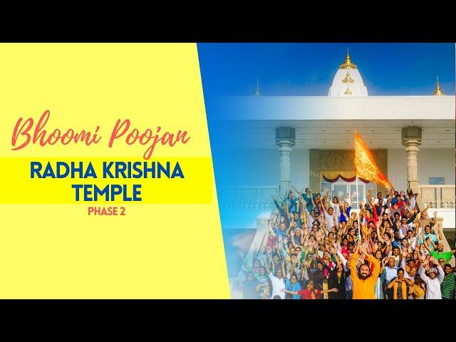 Radha Krishna Temple Phase 2: Culture and Education Center - Bhoomi Poojan
