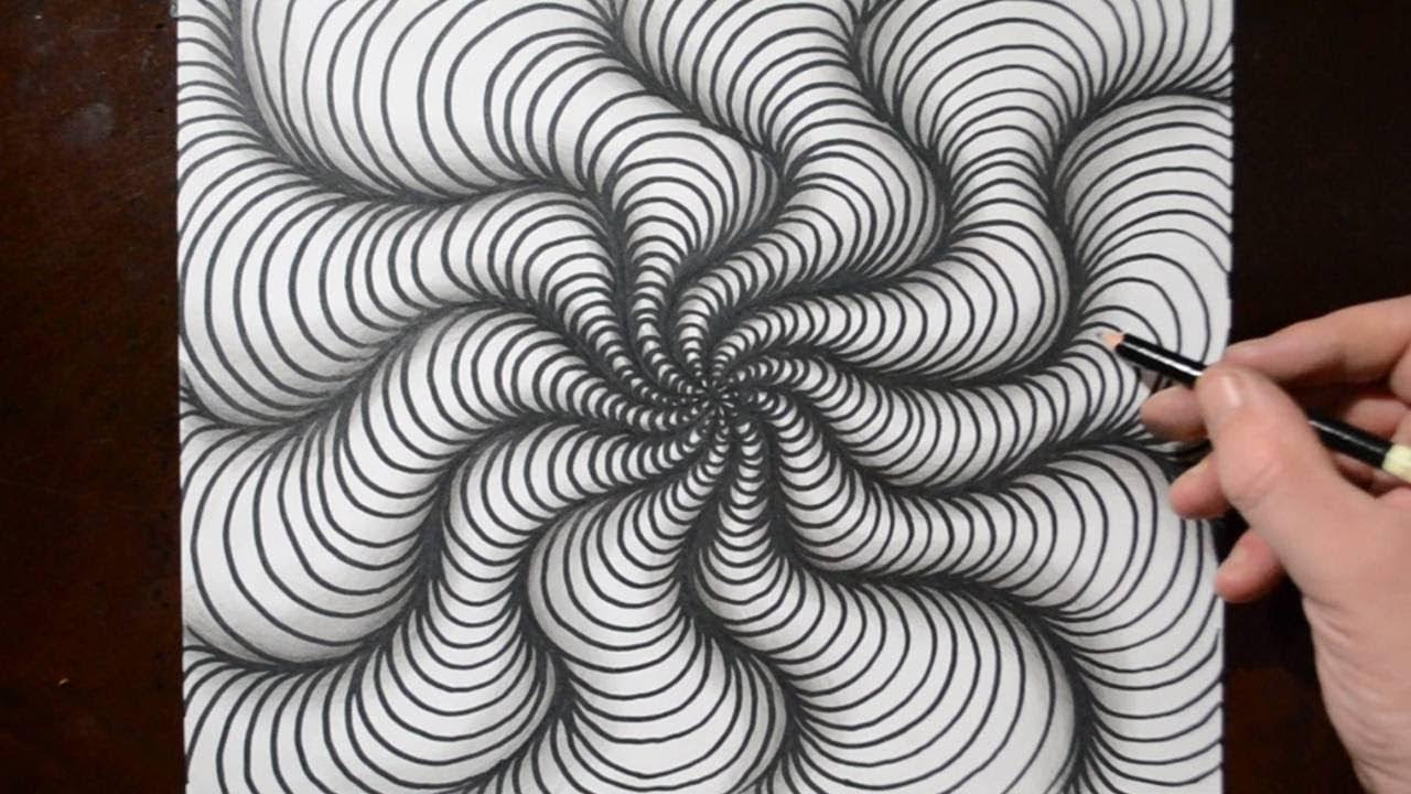 Drawing A Wavy Spiral Pattern